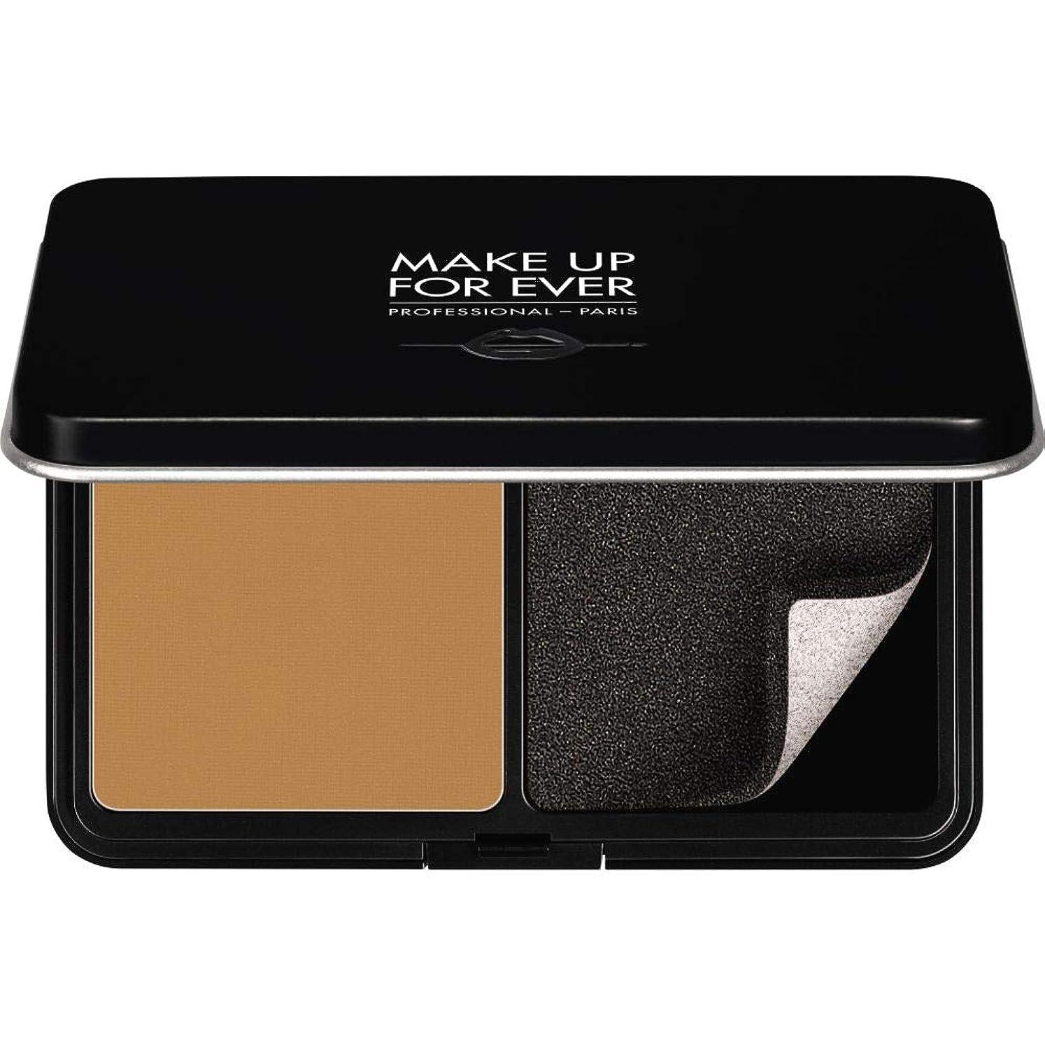 靴流体血色の良い[MAKE UP FOR EVER ] パウダーファンデーション11GののY455をぼかし、これまでマットベルベットの肌を補う - プラリネ - MAKE UP FOR EVER Matte Velvet Skin Blurring Powder Foundation 11g Y455 - Praline [並行輸入品]