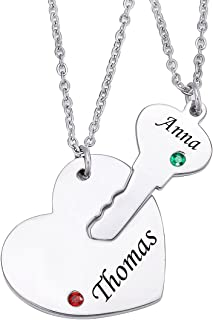 Best heart and key couples necklace Reviews
