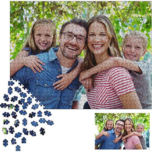 Puzzle mit Eigenem Foto, Puzzle Personalisiert Erwachsene Rätsel 1000 Teile zum Erwachsene Hölzern Rätsel Kinder Väter Tag Personalisiert Ihre Familie Paare Geburtstag Jahrestag Geschenk