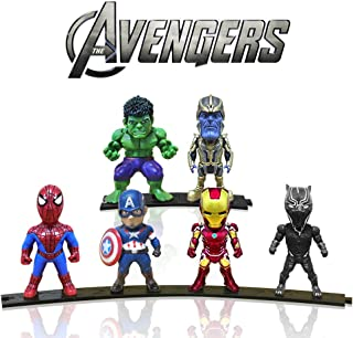 Action Figures, Anime Figures, Mini Action Figures for Boys, 6 Pack Hero Series Set Figures with Bases, PVC Figure Doll with 6 Popular Classic Characters Figures Ages 3 and up