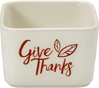 Precious Moments Celebrations Square Give Thanks Appetizer Bowl