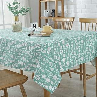 SONGHJ Mantel Decorativo Mantel de Lino de algodón Manteles rectangulares Mesa de Comedor Cubierta Verde 120x160cm