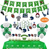 Football Birthday Party Decorations-include 2 Tablecloths,25 Cupcake...