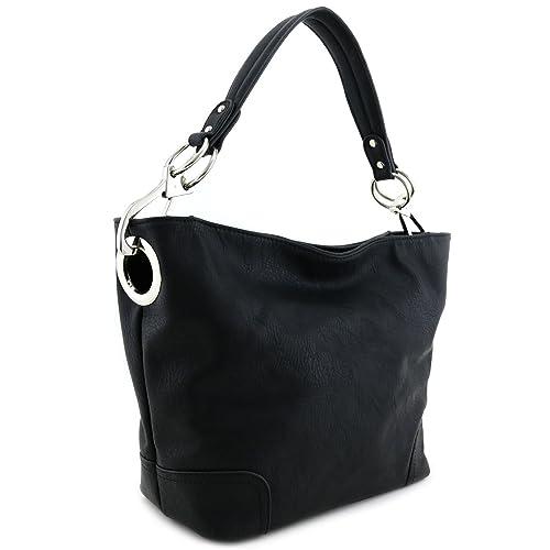 Black Handbags with Silver Hardware  Amazon.com 9dbc9d5821e8