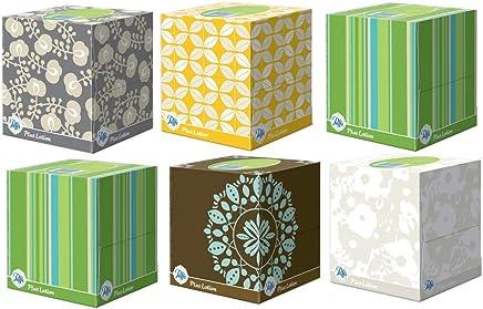 Puffs Plus Lotion Facial Tissues, Cube, 6 Boxes (56 Count Each)
