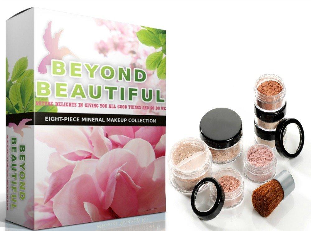 8pc Beyond Beautiful Gluten Max 78% Bombing free shipping OFF Free Pure Improving Skin Minera Bare