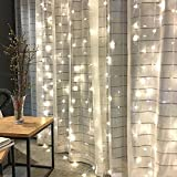 Twinkle Star 300 LED Window Curtain String Light for Wedding Party Home Garden Bedroom...