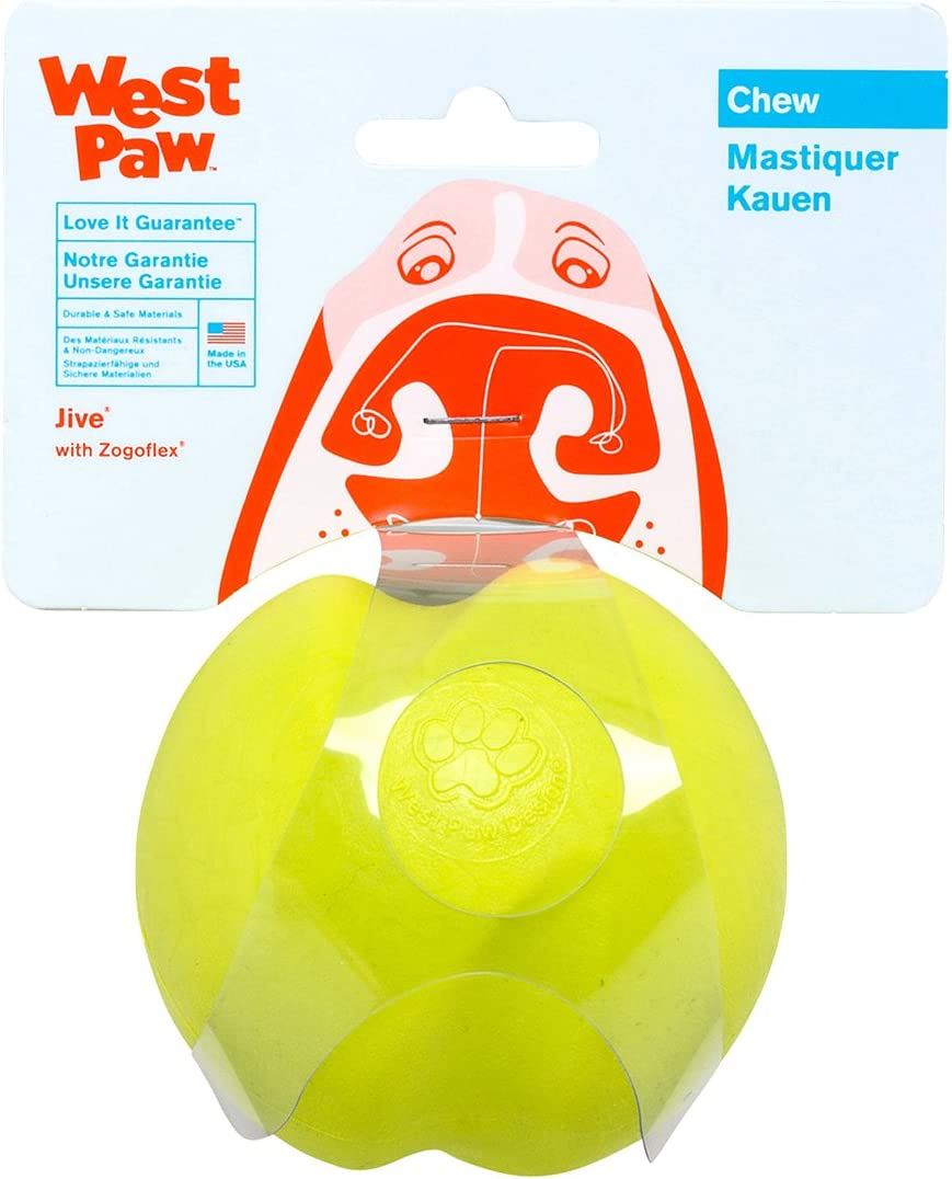 West Paw price Zogoflex Jive Ball Dog – Toys Kansas City Mall for Toy Chew Bouncing