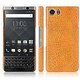 Zshion Case for BlackBerry Keyone ,Croco Premium PU Leather Protective Cases Simple Deurable and Lightweight Case for BlackBerry Keyone (Orange)