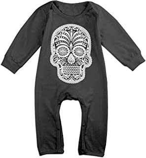 ZhuHanug Sugar Skull Newborn Toddler Baby Long-Sleeved Printed Romper Jumpsuit Bodysuit