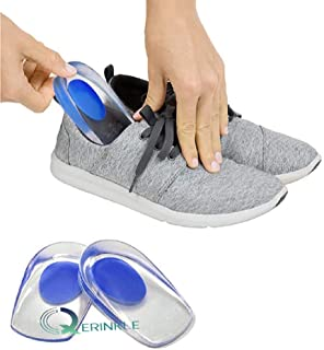 QERINKLE® Gel Heel cups Silicon Heel Pad for Heel Ankle Pain, Heel Spur Shoe Support Pad for Men and Women Shock Cushion P...