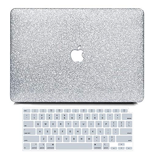 B BELK MacBook Air 13 inch Case 2020 2019 2018 Release A2337 M1 A2179 A1932 with Touch ID Glitter Sparkly Girly Smooth Hard Shell Cover with Keyboard Cover MacBook Air 13 2020 with Retina Display