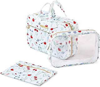 Travel Toiletry Bag Hanging Hook For Women Nylon, Dopp Kit Cosmetics Pouch Organizer 3-in-1 Dual Wash bag – P Travel Serie...