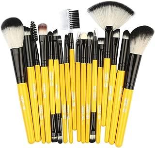 Crazy-store 18pcs Fan-shaped Makeup Brushes Set Foundation Eye Shadow Brush Kit for Adult Making up YH18