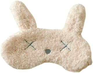 Ayygiftideas Lovely Plush Animal Sleeping Eye Mask Rabbit Cat Eye Patch Free size Rabbite