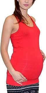 ESRA Damen Schwangerschaft Tanktop Damen Longshirt Maternity Damen Umstandsshirt B04