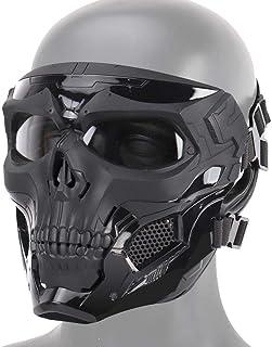 AUOKER Airsoft Schedel Maskers Volledig Gezicht, Volwassen Deluxe Masker Oogbescherming Voor Halloween BB Paintball Gun Pa...