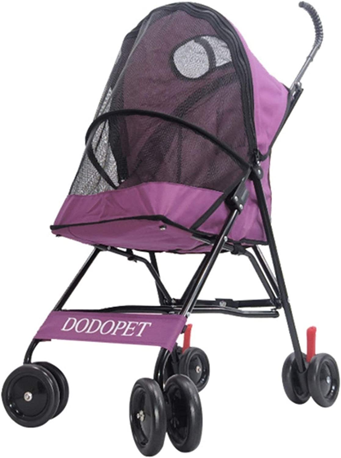 LXYFMS Standard Pet Stroller Foldable Dog And Cat Stroller Pet stroller (color   Purple)