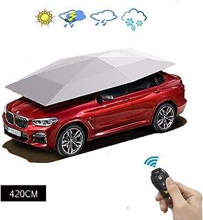 Automatischer Auto-Regenschirm Sonnenschutz Abdeckung Winddicht UV-Schutz staubdicht beweglicher Carport Faltbares Oxford-Gewebe f/ür den Au/ßenbereich MElnN Auto-Zelt Carport