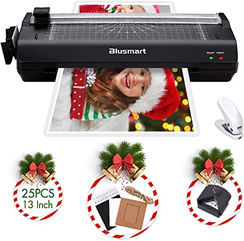 13 inches Laminator, Blusmart Multiple Function A3 Laminator with 25 Laminating Pouches, Paper Cutter, Corner Rounder...