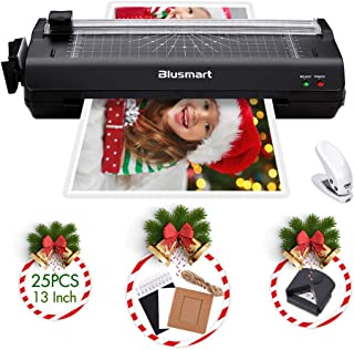 13 inches Laminator, Blusmart Multiple Function A3 Laminator with 25 Laminating Pouches, Paper Cutter, Corner Rounder Lami...