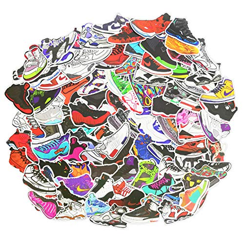 100 Basketbal Schoenen Stickers Koffer Skateboard Gitaar Trolley Kast Wandplakband Decoratie Stickers