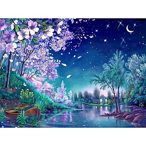 Wotion 15.75'x11.81' Sakura Full Drill All Square DIY 5D Diamond Painting Kit with Carton Package for Adults Rhinestone Embroidery Cross Stitch set Arts Craft Gift