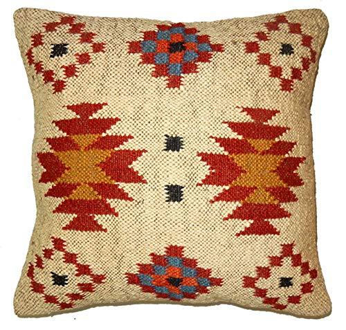 Handicraft Bazarr Funda de almohada étnica tradicional Kili