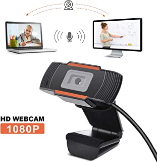 HD 1080p Webcam LiviNGPAi Web Camera with Microphones Laptop or Desktop Webcam for Studying Gaming Conferencing & Working, USB Computer Camera for Mac Xbox YouTube Skype OBS