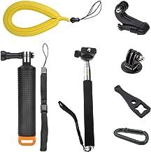 Nano-Tek Waterproof Floating Hand Grip for GoPro Cameras Hero 7 6 5 4 3 3+ 2 1 Handler/Handle Mount with Accessories for GoPro Floating Grip/gopro Stick Floating (Floating Hand Grip With Selfie Stick)