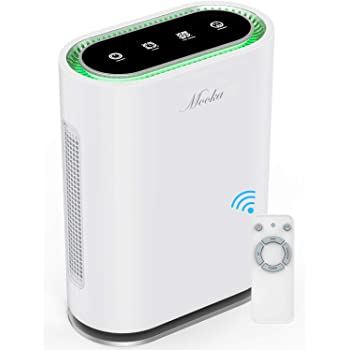 MOOKA True HEPA+ Air Purifier, Large Room to 540ft², 6-Point Filtration, Odor Eliminator for Allergies and Pets, Ionic & Sterilizer, Air Cleaner for Office & Home, Rid of Mold, Smoke, Odor