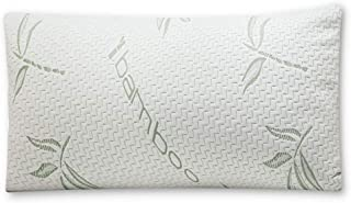 Mutlu Home Goods Cool Bamboo Pillow in Queen (Standard) Size with Shredded Memory Foam Helps with Stiff Neck, Never Goes Flat. Hypoallergenic Removable Washable White Cover Resists Dust Mites