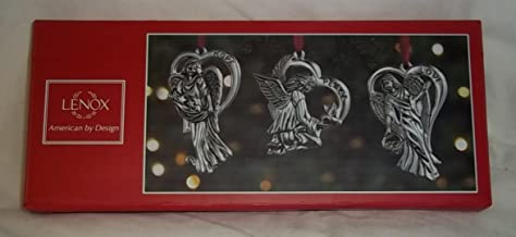 Lenox Silver Angels Hope Peace Love Set of 3