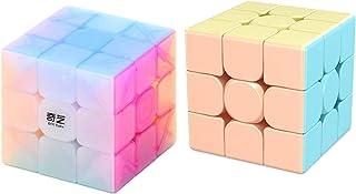 CuberSpeed Bundle Moyu Macaron Meilong 3x3 sin adhesivo con QiYi Warrior W 3x3 Jelly Cube Puzzle