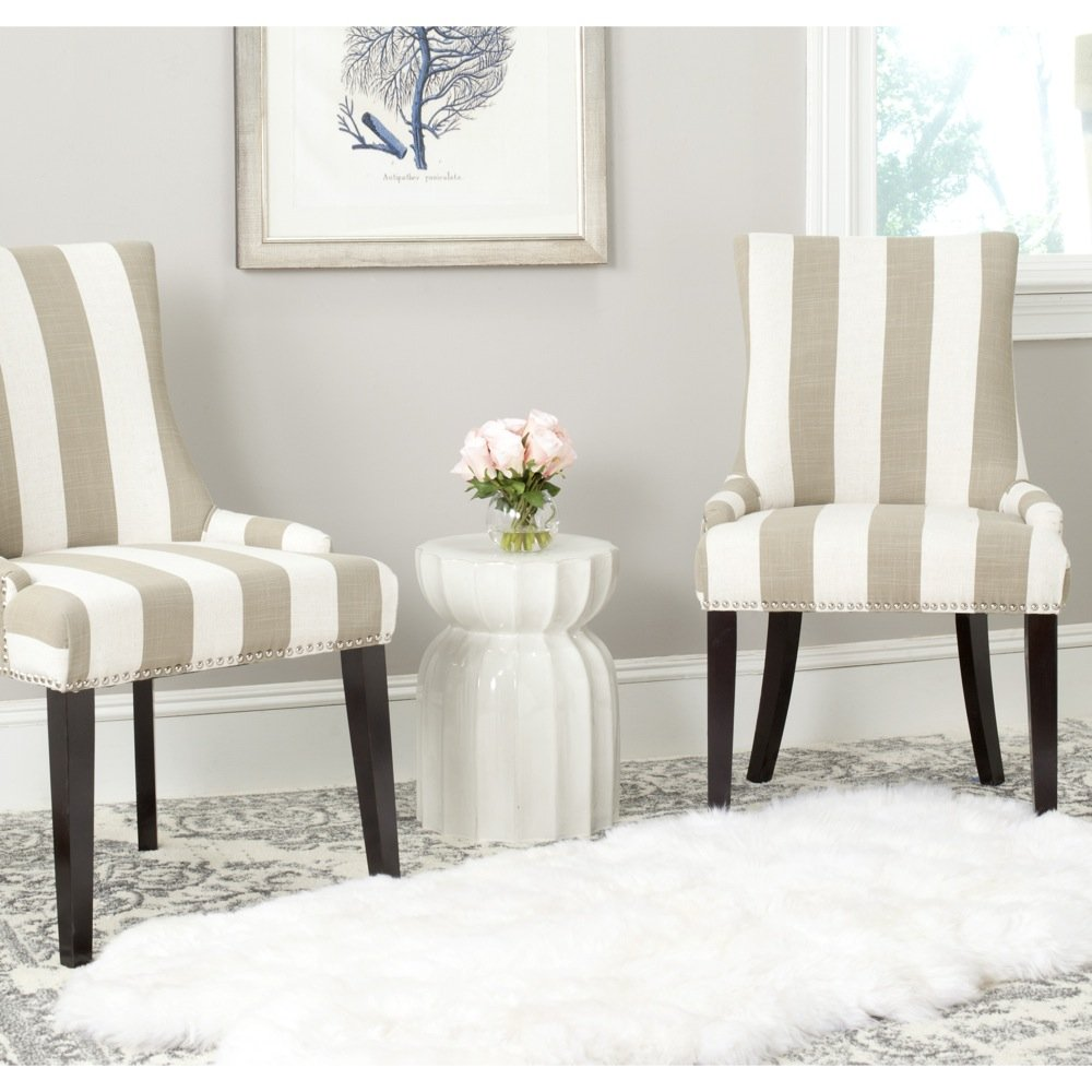 Safavieh En Vogue Dining Matty Black And White Striped: Striped Dining Room Chairs