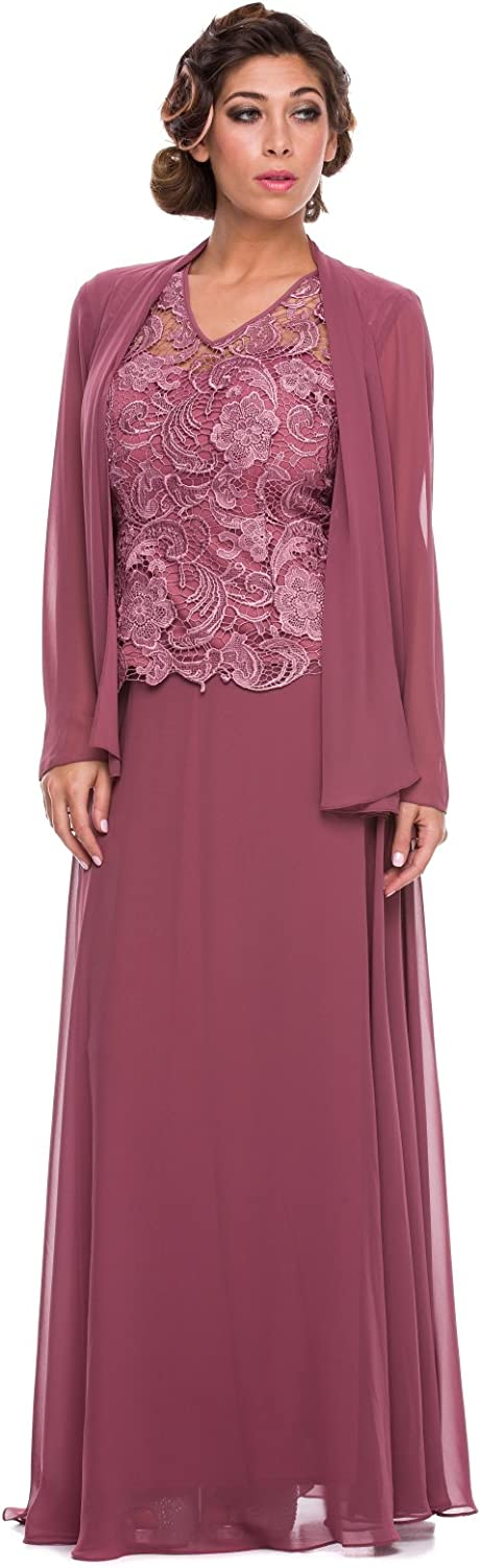 Mother of the Bride Formal Gown 5061NXpinkWOOD