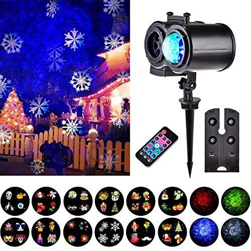 LED Projektionslampe Lichter Wasserdichte Projektionslampe Effektlicht Weihnachten Projektor Outdoor//Indoor Party Lights Projektor Landschafts Beleuchtung Mit Fernbedienung F/üR Halloween Schwarz