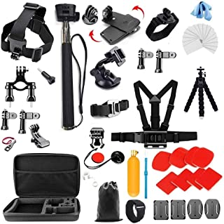 Gopro Accessories Bundle kit for sj4000 / sj5000 cameras and GoPro Hero 4 3 2 1 (27 Items)