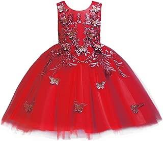 Áo quần dành cho bé gái – Flower Girl Dress Butterfly Tulle Elegant Girls Party Dresses(4-10yrs)