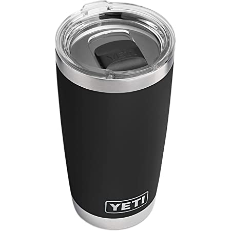 YETI Rambler 20 oz Tumbler, Stainless Steel, Vacuum Insulated with MagSlider Lid, Black