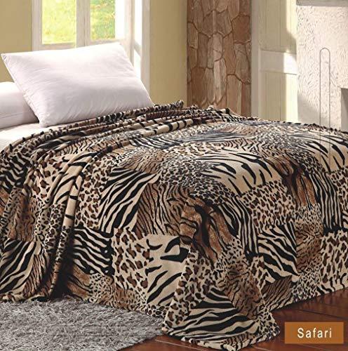 Home muss haben, Micro Plüsch Super Weich Patchwork Bedruckt Decke Safari Queen Size, Polyester