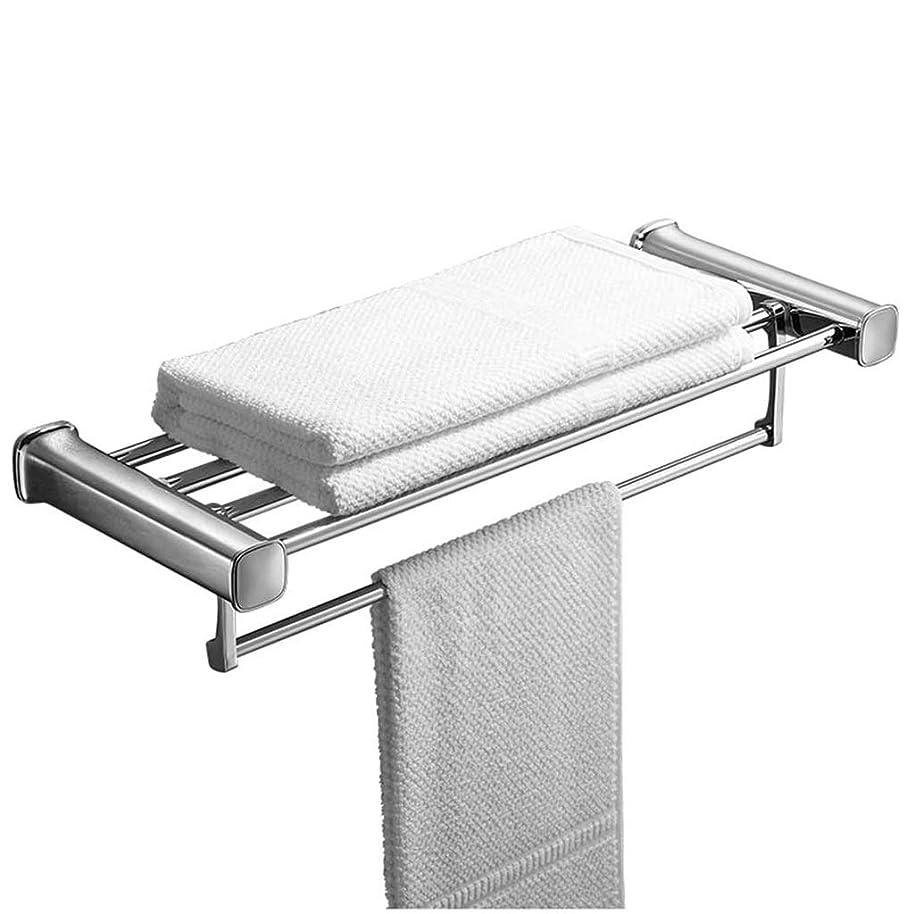 ぼんやりしたぬいぐるみ結婚浴室のタオルラックステンレススチールブラシタオルラックバスルーム穿孔は、Movableタオルバーラック