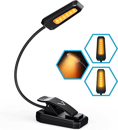 wholesale Vont Book Light, Reading Light, Rechargeable Book Light for Reading in Bed, (60 Hours) Eye Protection LEDs Reading Lamp, Clip On Light, online sale Clamp Light, Bed Lamp, 3 Modes, Warm Amber outlet sale Light (1600k) outlet sale