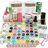 Coscelia Nail Art Kit Poudre Acrylique Gel UV Base Primer Top Coat Faux Ongles Manucure