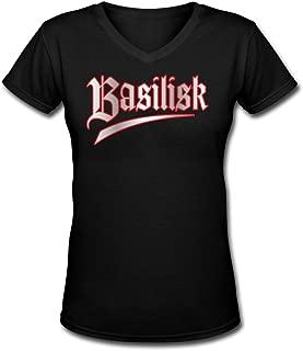 Basilisk Anmie Logo V Neck T-Shirts Womens