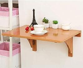 SYLTL Kwadratowy stół składany montowany na ścianie, składane stoliki z drewna, stabilna, wytrzymała konstrukcja do małych...