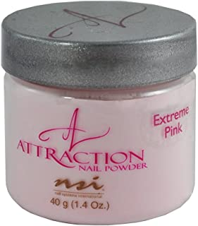 NSI Attraction Acrylic Nail PowderExtreme PinkPack of 1