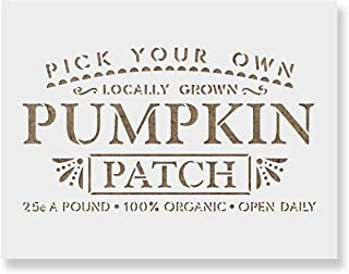 Pumpkin Patch Stencil Template for Walls and Crafts - Reusable Stencils for Painting in Small & Large Sizes