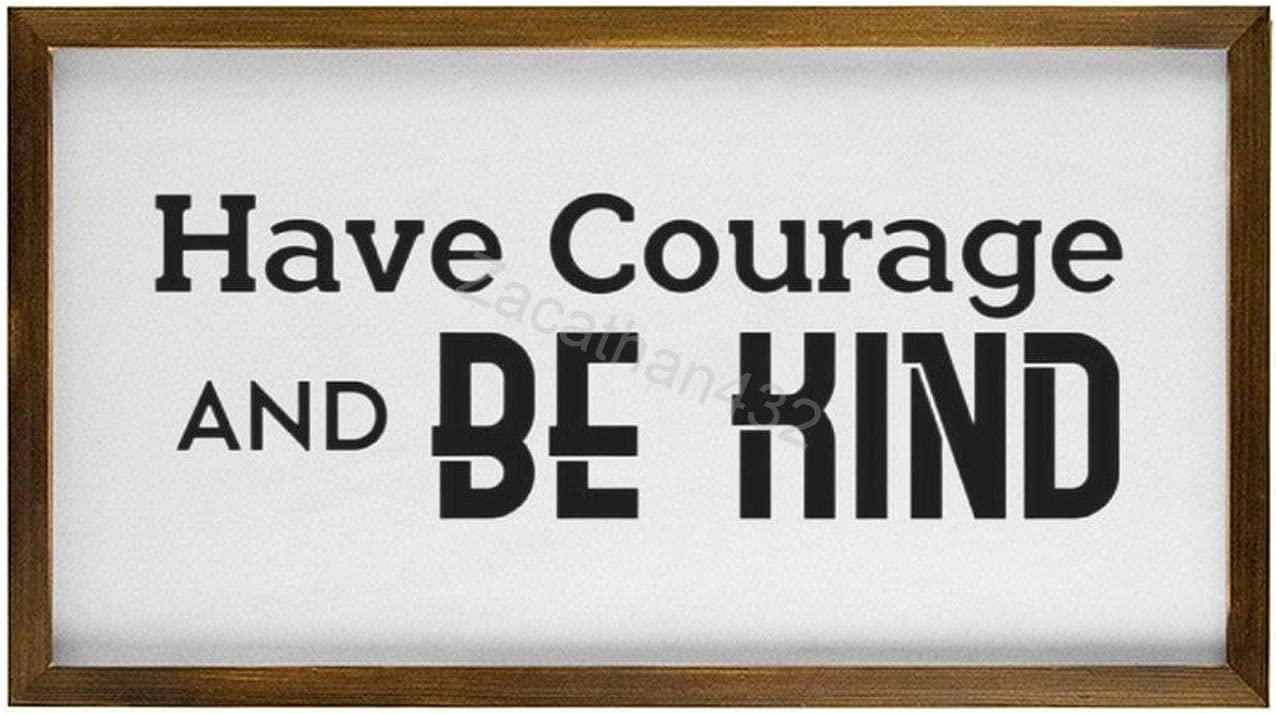 Zacathan432 OFFer Rustic Wood Framed Signs Ha with Inspirational Topics on TV Quote
