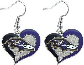 NFL Swirl Heart Earrings
